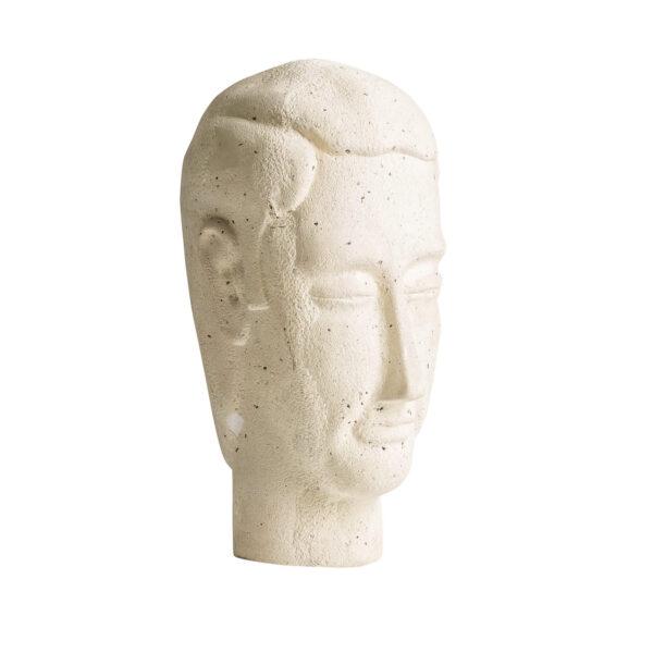 original busto decorativo fabricado en resina de color crema