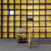 Silla Vintage Acero Dorado tapizado mostaza