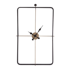 Decora tu pared con este reloj rectangular de estilo industrial