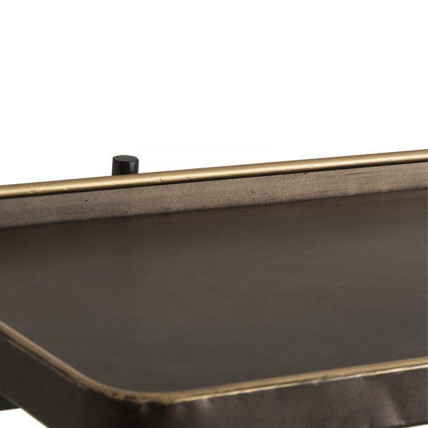 Consola rectangular de estilo vintage fabricada en hierro